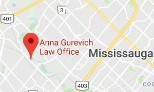 google map to the Anna Gurevich Law Office